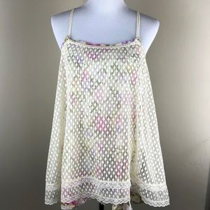 Free People Intimately Floral Layered Tank Top